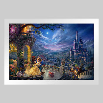 Beauty and the Beast Dancing in the Moonlight Art Print