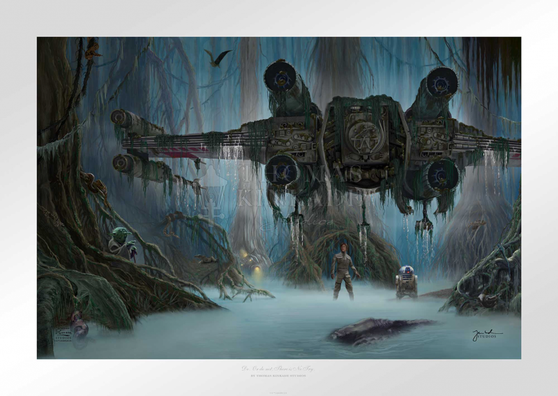 Do. Or do not. There is no try. Art Print - 18 x 27 Limited Edition Paper by Thomas Kinkade Studios