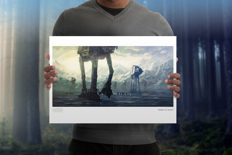 Dawn at Hoth Art Print feature image