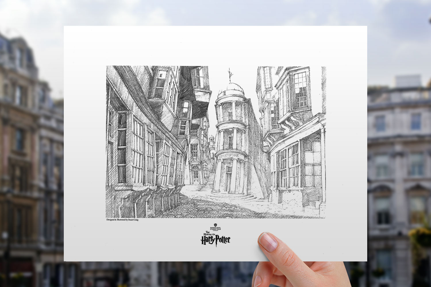 View of Diagon Alley Art Print feature image