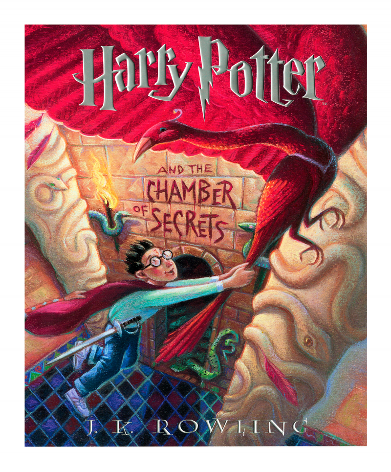 Harry Potter and the Chamber of Secrets Art Print - Lithograph Enhanced with Embossed Foil Stamping on Fine Art Paper