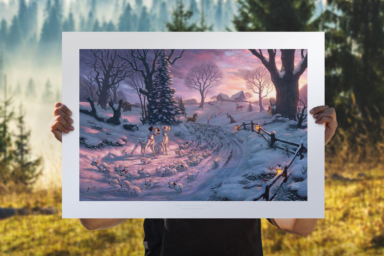 101 Dalmatians on the Run Art Print feature image