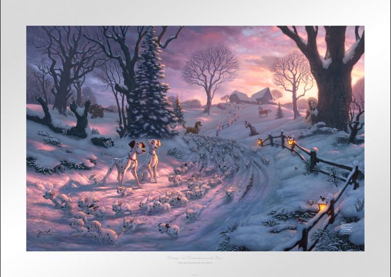 101 Dalmatians on the Run Art Print -
