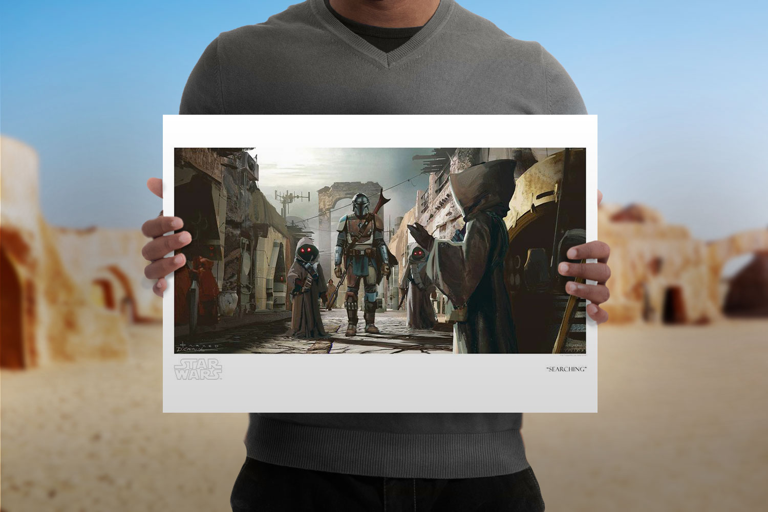 Searching Art Print feature image