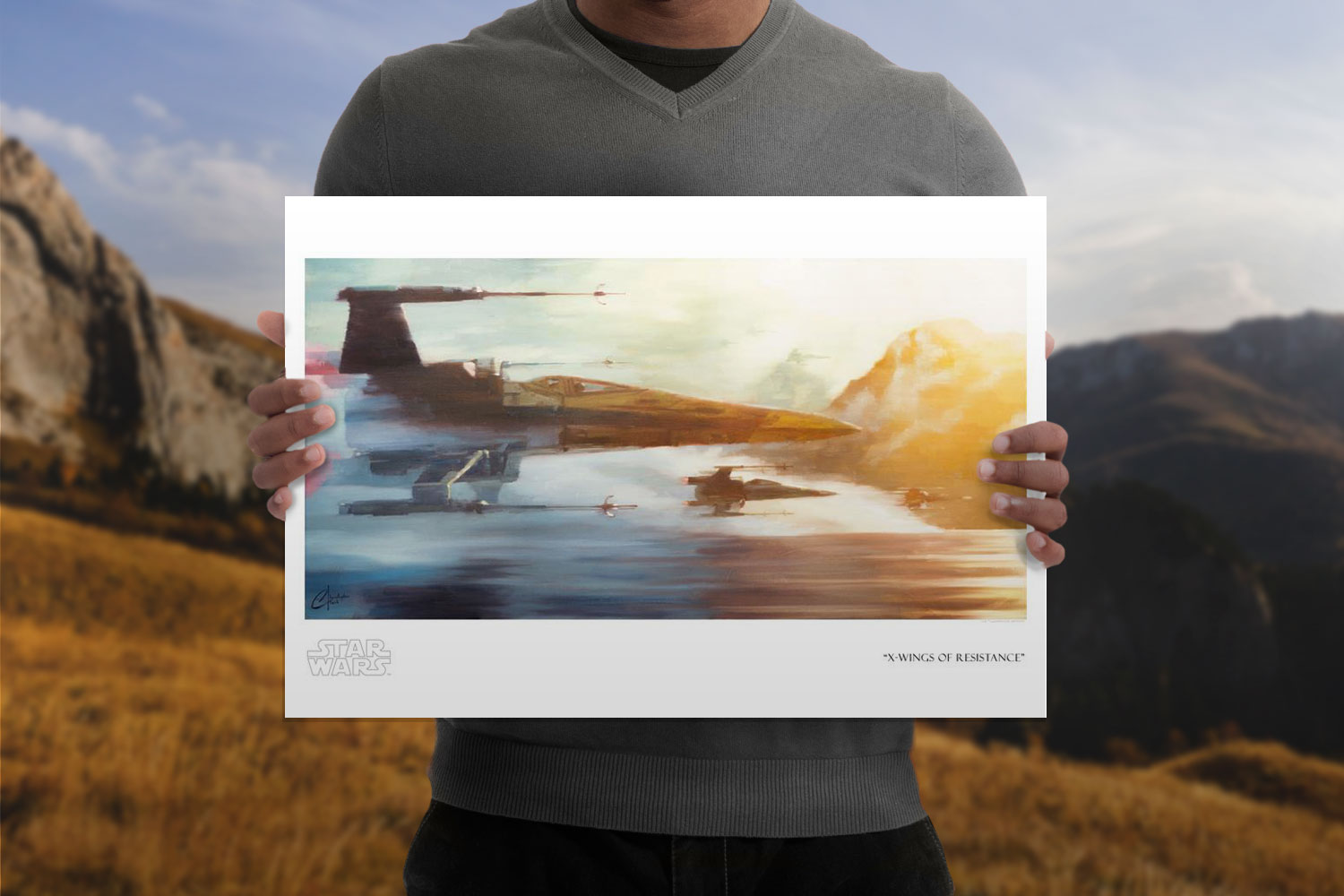 X-Wings of Resistance Art Print feature image
