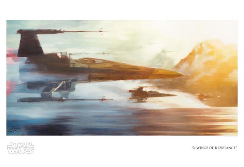 X-Wings of Resistance Art Print - Giclee