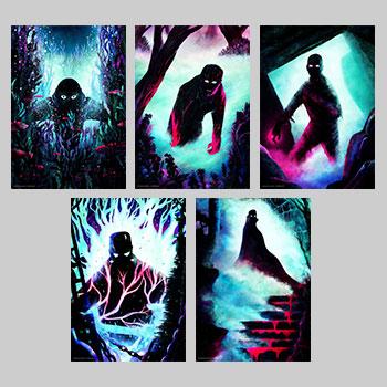 Universal Monsters Set Art Print