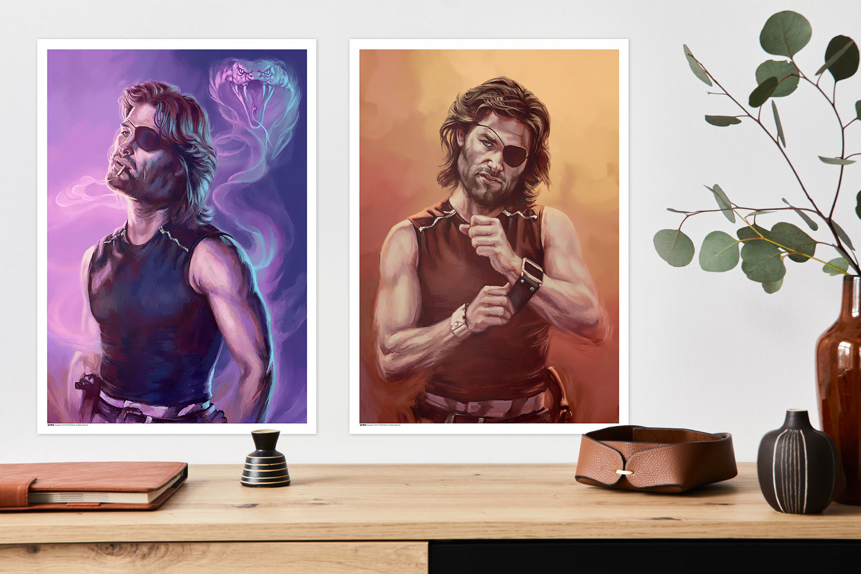 Escape From New York – Snake Plissken Portrait Set Art Print feature image