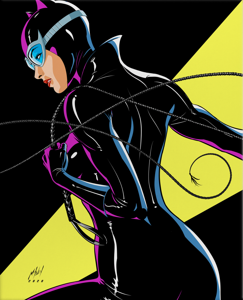 Catwoman Art Print - Wrapped Canvas