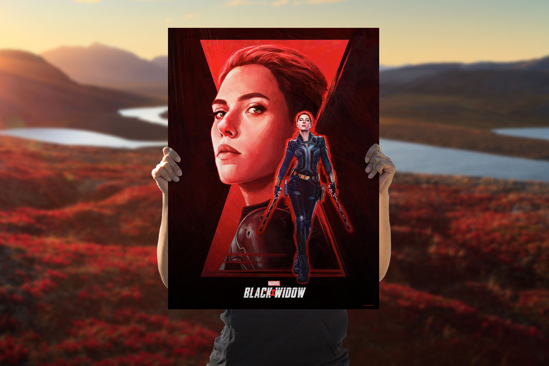 Black Widow Art Print feature image