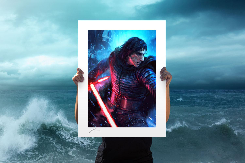 The Duel: Kylo Ren Art Print feature image