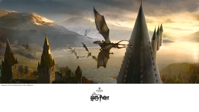 Thestrals to London Art Print - Gicleé on Fine Art Paper - The Art of the Harry Potter Film Series