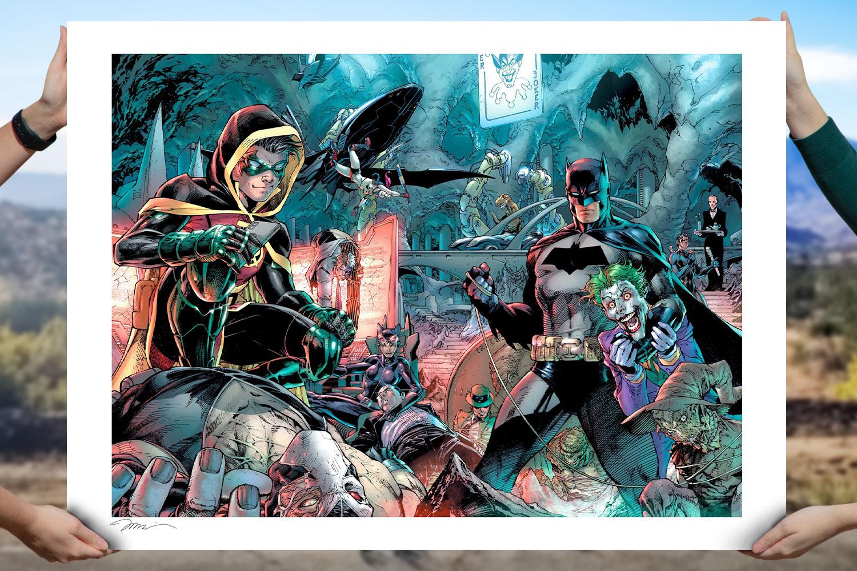 Batman 1000 Art Print feature image