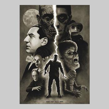 "Universal Monsters - ""Moonlight"" Art Print"