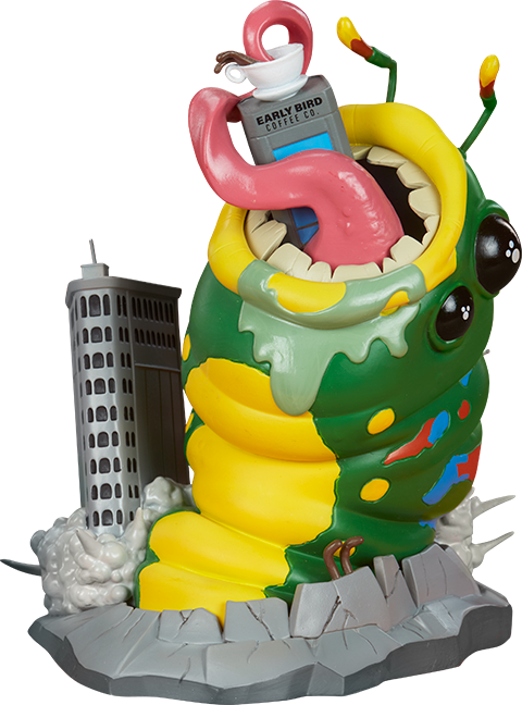 Unruly Industries(TM) Wrath of Wormzilla! Designer Toy
