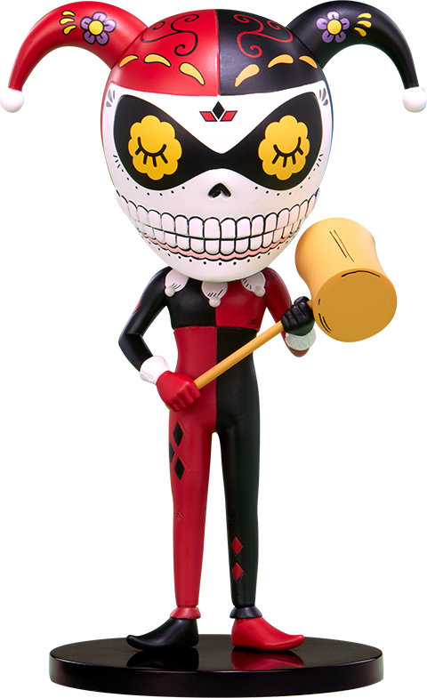 Unruly Industries(TM) Harley Quinn Calavera Designer Collectible Toy