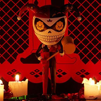 Harley Quinn Calavera Designer Collectible Toy