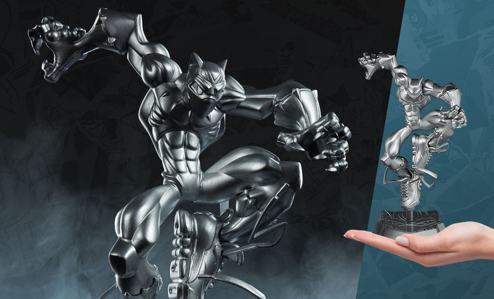 Gallery Feature Image of T'Challa (Vibranium Edition) Designer Collectible Toy - Click to open image gallery