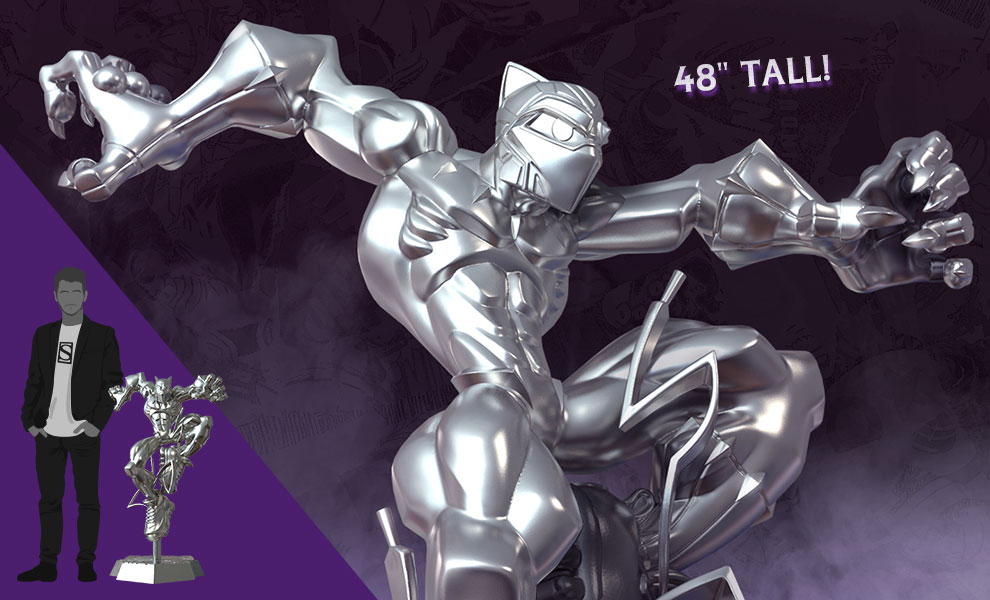 Gallery Feature Image of T'Challa Giant-Sized (Silver Edition) Designer Collectible Toy - Click to open image gallery