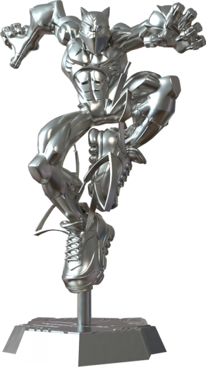 T'Challa Giant-Sized (Silver Edition) Designer Collectible Toy