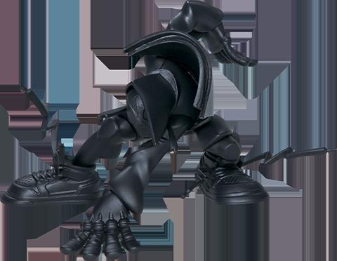 Unruly Industries(TM) Miles (Matte Black Version) Designer Collectible Toy