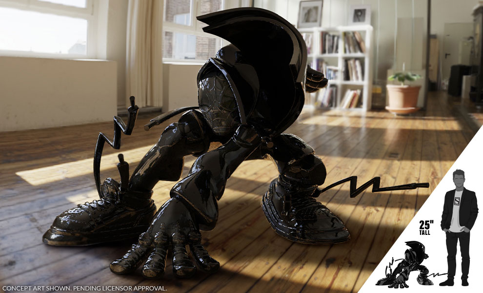Gallery Feature Image of Miles Giant-Sized (Gloss Black Edition) Designer Collectible Toy - Click to open image gallery
