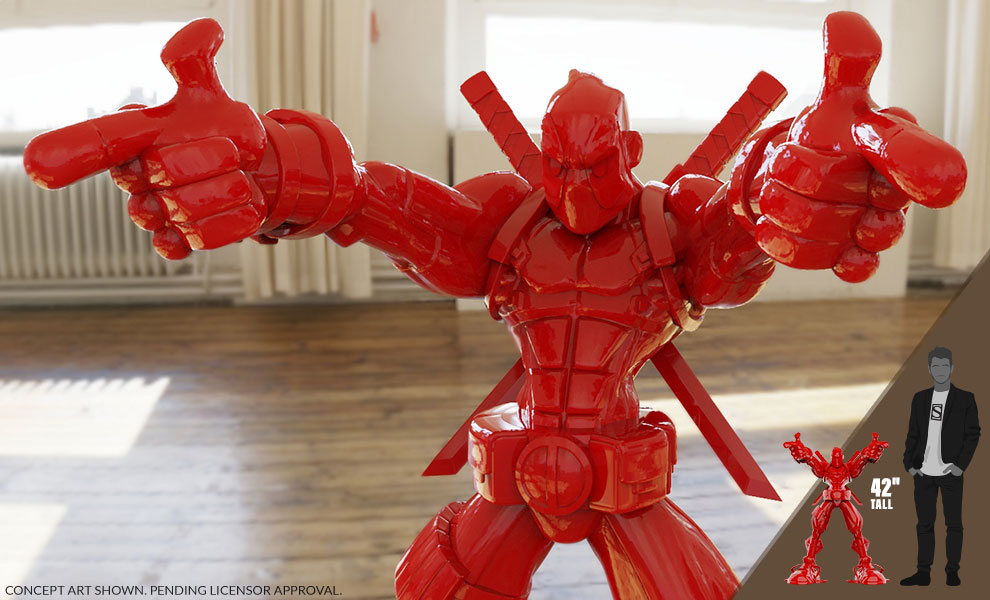 Gallery Feature Image of Wade Giant-Sized (Gloss Red Edition) Designer Collectible Toy - Click to open image gallery