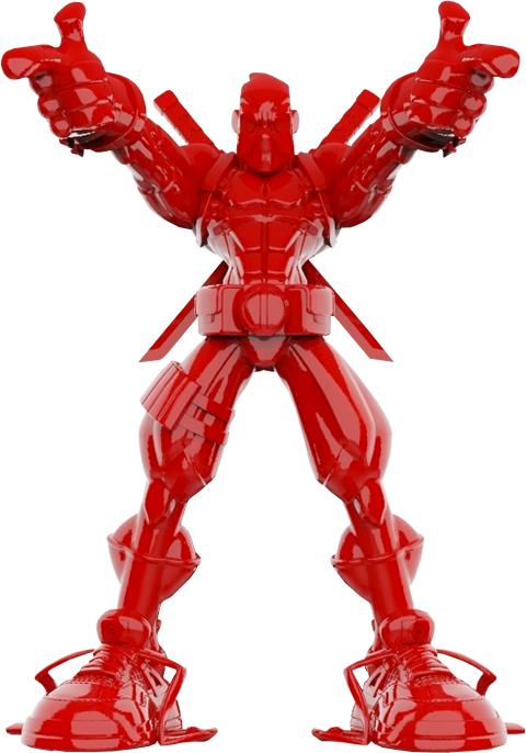 Unruly Industries(TM) Wade Giant-Sized (Gloss Red Edition) Designer Collectible Toy