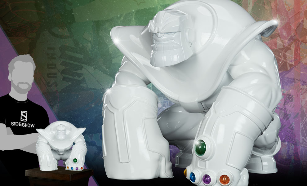 Gallery Feature Image of Thanos (Infinity-Sized) Gloss White Edition Designer Collectible Toy - Click to open image gallery