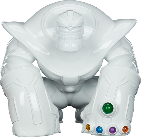 Unruly Industries(TM) Thanos (Infinity-Sized) Gloss White Edition Designer Collectible Toy