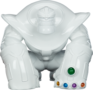 Thanos (Infinity-Sized) Gloss White Edition Designer Collectible Toy