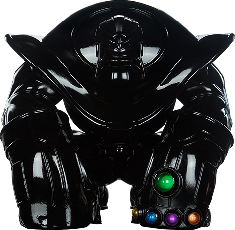 Unruly Industries(TM) Thanos (Infinity-Sized) Gloss Black Edition Designer Collectible Toy