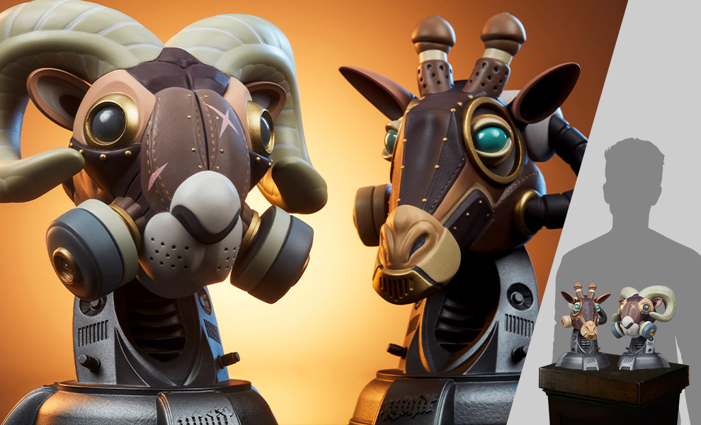 Gallery Feature Image of Ram and Giraffe Designer Collectible Toy - Click to open image gallery
