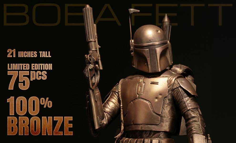 Gallery Feature Image of Boba Fett Bronze Statue - Click to open image gallery