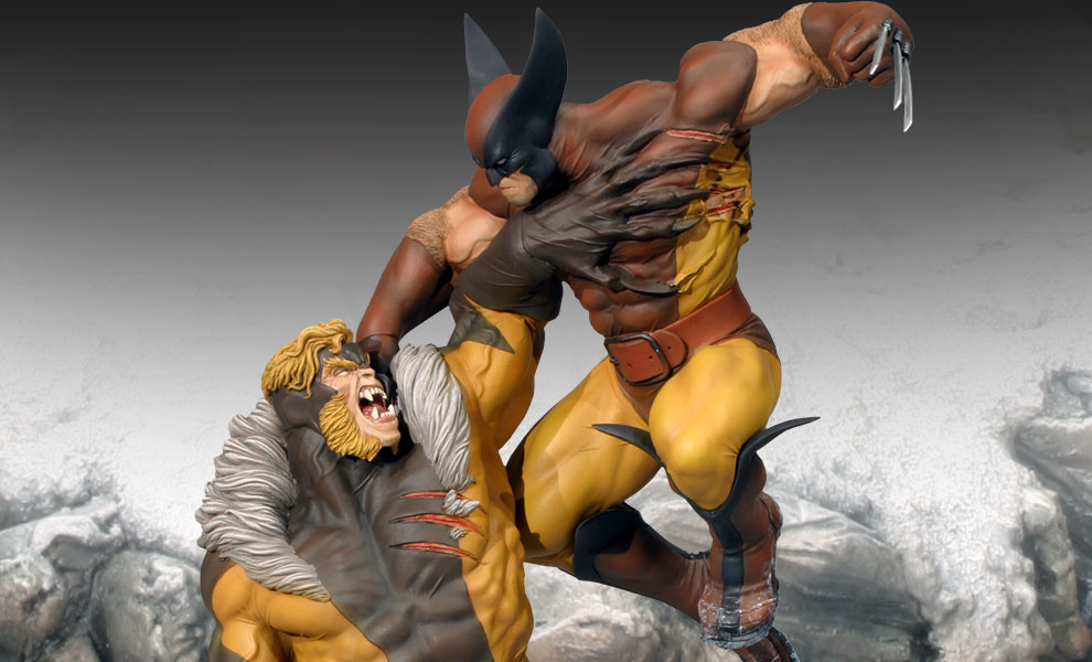 Gallery Feature Image of Wolverine Vs. Sabretooth Polystone Diorama - Click to open image gallery