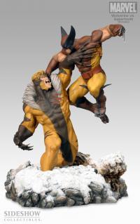 Gallery Image of Wolverine Vs. Sabretooth Polystone Diorama