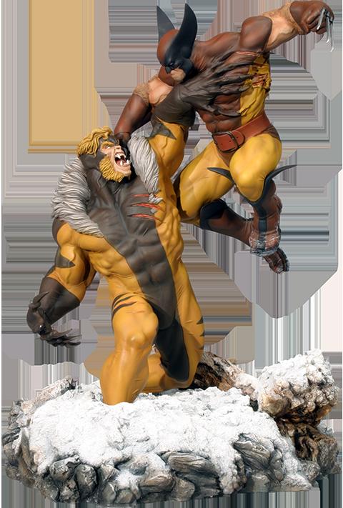 Sideshow Collectibles Wolverine Vs. Sabretooth Polystone Diorama