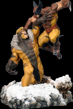 Wolverine Vs. Sabretooth Polystone Diorama