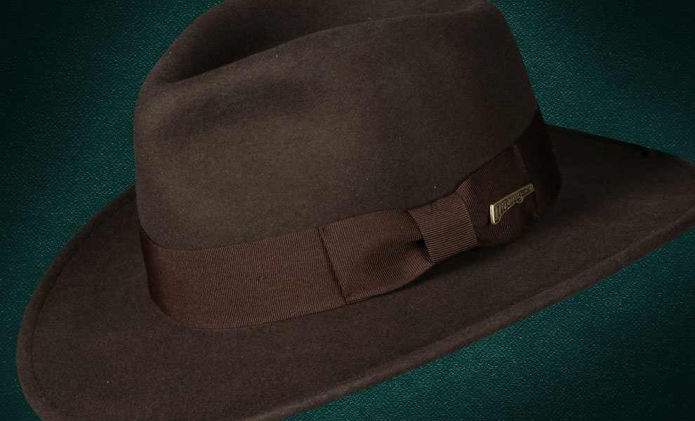 Gallery Feature Image of Indiana Jones Fedora - Crushable Wool Apparel - Click to open image gallery