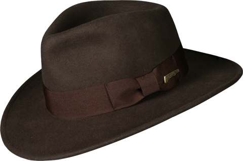 Dorfman Pacific Indiana Jones Fedora - Crushable Wool Apparel