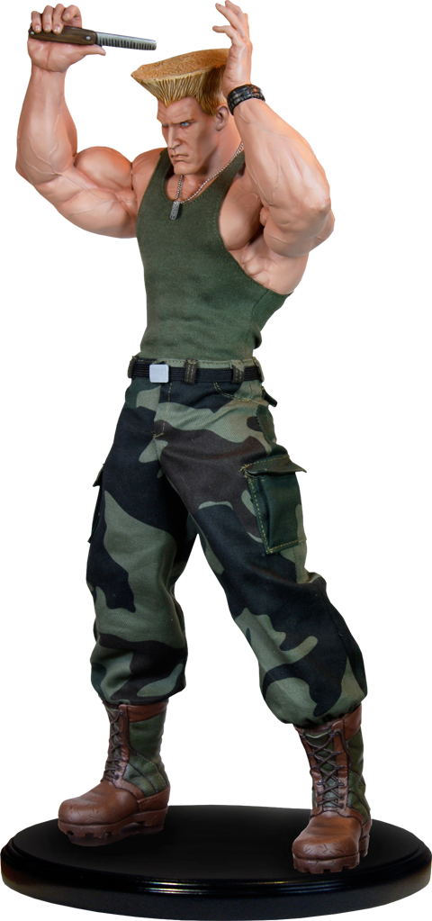 PCS Guile Mixed Media Statue