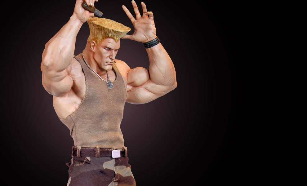 Gallery Feature Image of Guile Mixed Media Statue - Click to open image gallery