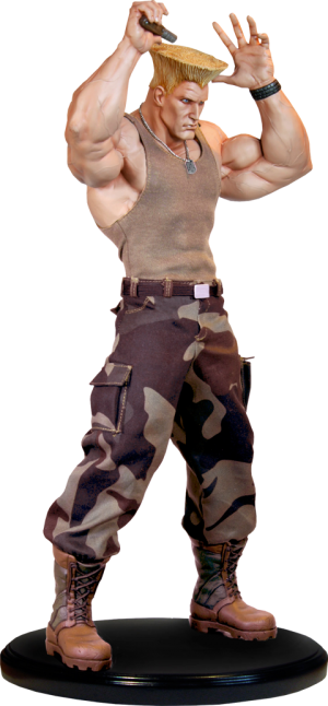 Guile Mixed Media Statue