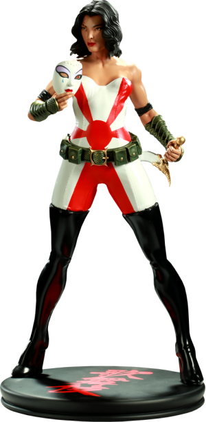 Kabuki Mixed Media Statue