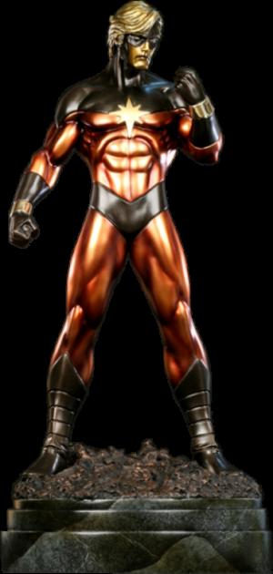 Captain Marvel Polystone Statue