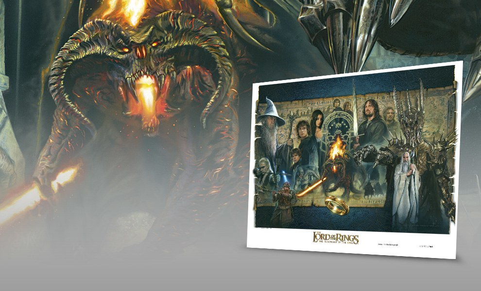 Gallery Feature Image of 'Fellowship of the Ring' - UNFRAMED Fine Art Print - Click to open image gallery