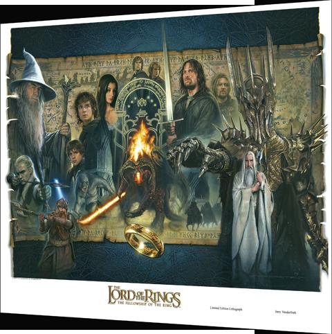 Vanderstelt Studio 'Fellowship of the Ring' - UNFRAMED Fine Art Print