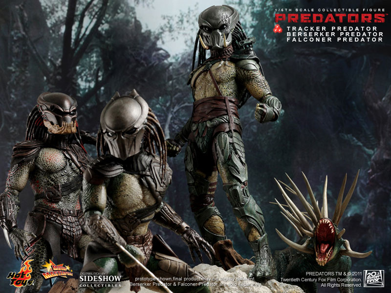 HOT TOYS MMS147 Predators Tracker Predator 1//6 Figure w// Hound