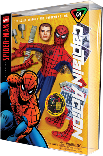 Round 2 Corp Captain Action Spider-Man Deluxe Costume Set Collectible Figure