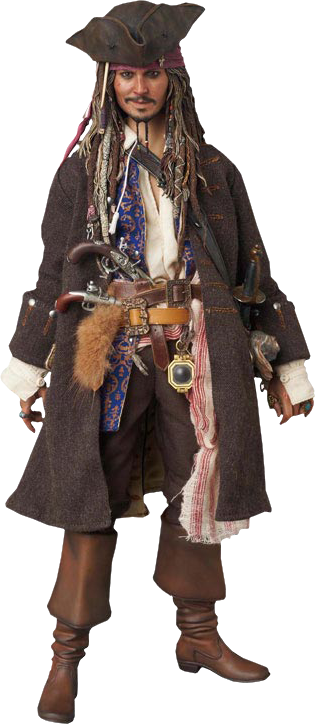Medicom Toy, Enterbay Jack Sparrow Sixth Scale Figure